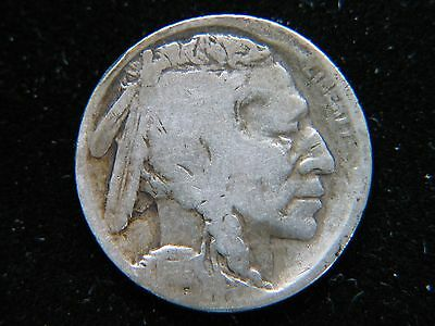 1914-D 5C Buffalo Nickel Rare Key Date Denver Mint Cleaned