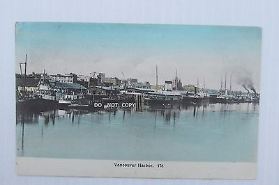 C.1900's Postcard...boats,steamers At Vancouver Harbor, Vancouver B.c. Canada