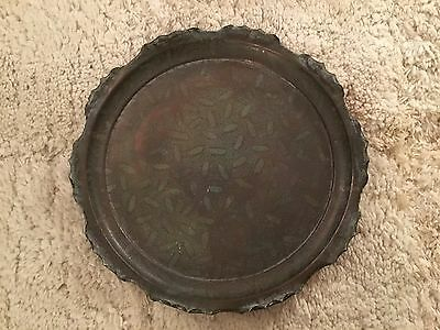 COPPER TRAY ARTS & CRAFTS ACANTHUS TOWNSHEND & CO 19th CENTURY