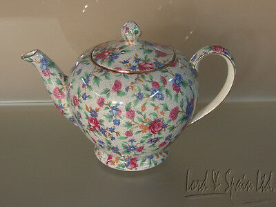 Royal Winton OLD COTTAGE CHINTZ Small Round Teapot-Pre 1960's