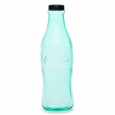 """NEW Coca-Cola 12"""" Coke Bottle Green Clear Plastic Coin Money Bank Collectable"""