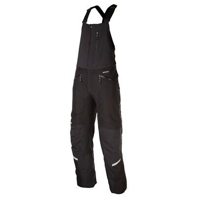 Klim Men's Keweenaw Bib Insulated Breathable Gore-Tex Snowmobile Pants - Black