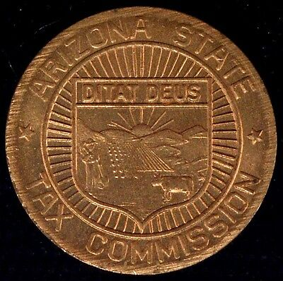 1937-1954 Arizona State Sales Tax Token Uncirculated
