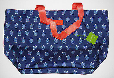 Vera Bradley Turtles Lighten Up Large Family Tote Beach Bag Nwt Turtle
