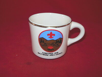 1C BSA Boy Scouts America CAMPOREE 1978 Baltimore Area Council Coffee MUG 1978