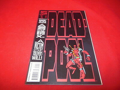 Marvel Comics DEAD POOL Vol 1 No 1 August 1993 First Solo App Circle Chase ETC