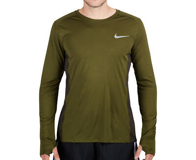 Nike Men's Dry Miller Long Sleeve Top - Legion Green/Sequoia