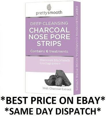 Pretty Charcoal Deep Cleansing Nose Pore Strips Removes Blackheads Unclog Pores