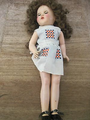 "Horsman 18"" Doll..Needs Restoration, Head Wobbles & Eyes Will Not Open"