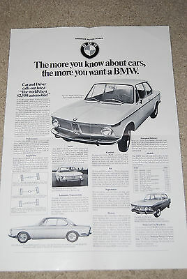 "1967 BMW 16"" x 22"" DEALER ADVERTISING POSTER"