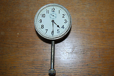 Vintage Wind Up Car Clock Working Unknown Maker Nice Condition
