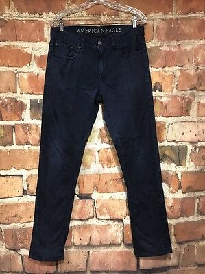 Mens AMERICAN EAGLE Blue (Colored) Jeans 32 x 34 Skinny (Actual 32 x 32)