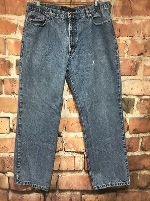 Mens IZOD Light Blue Denim Relaxed Fit Jeans 40 x 32 (Actual 38 x 31.5)