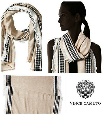 Vince Camuto Bordered Chevron  Wrap Oblong  Scarf   New  Nordstrom  $ 32