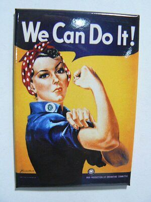 Rosie The Riveter We Can Do It! Ephemera Kitchen Refrigerator Magnet NEW E8322