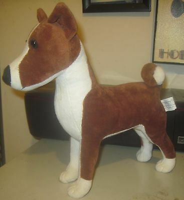 Rare Long Retired Red Basenji Stuffed Animal Plush Toy Dog
