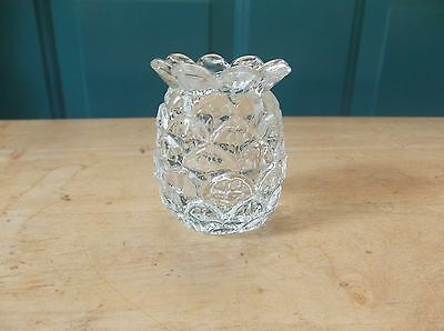 Vintage Clear Glass Pineapple Shaped Tooth Pick Holder