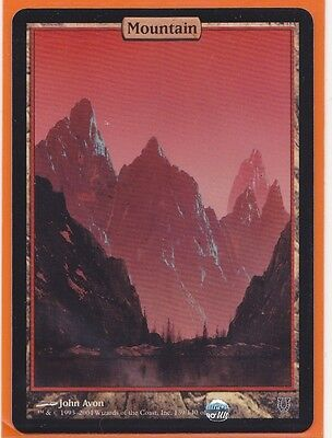 MTG Magic  1 x  Unhinged MOUNTAIN Foil Land Full Art Never played  HOT