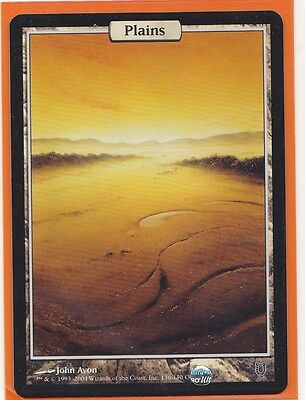 MTG Magic  1 x  Unhinged PLAINS  Full Art Foil Land  Never played  HOT