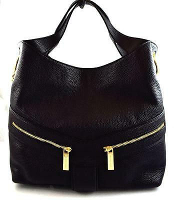 Authentic New Nwt Michael Kors Leather $368 Jamesport Black Tote Bag
