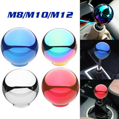 Universal AT/ MT Round Ball Shifter Lever Gear Shift Knob With M8 M10 M12 THREAD