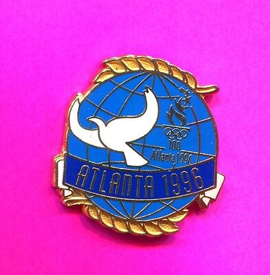 1996 Olympic Dove Globe Pin Atlanta Olympic Pin