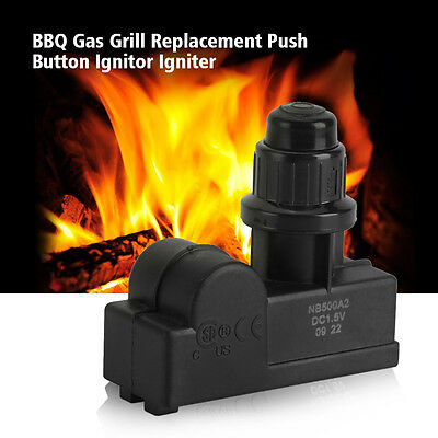 BBQ Gas Grill Spark Generator 2 Outlet AA Battery Push Button Ignitor Igniter EB
