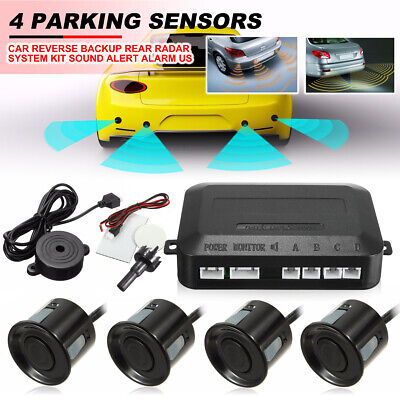 Parking 4 Sensors Car Reverse Backup Rear Buzzer Radar Sound Alarm System Kit