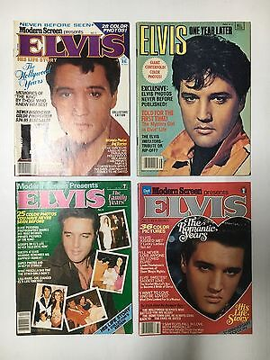 ELVIS MAGAZINE LOT OF 4 FROM 1970's & 80's