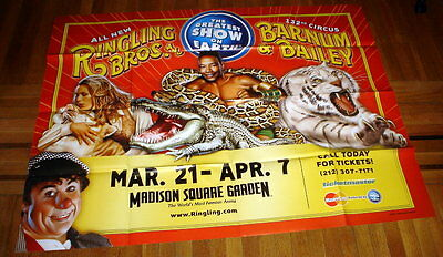 RINGLING BROS old CIRCUS 132nd POSTER 5ft SUBWAY POSTER madison square garden