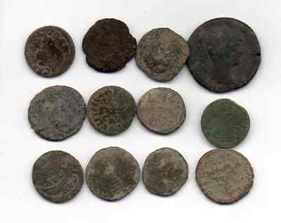 12 Uncleaned and Unidentified Roman Coins - Free U.S. Shipping