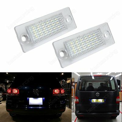 2x VW Golf Plus Jetta Passat Touran LED Rear License Number Plate Light No Error