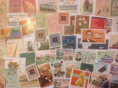 100 Different Macau Stamp Collection