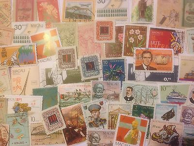 200 Different Macau Stamp Collection