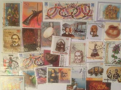 50 Different Macedonia Stamp Collection