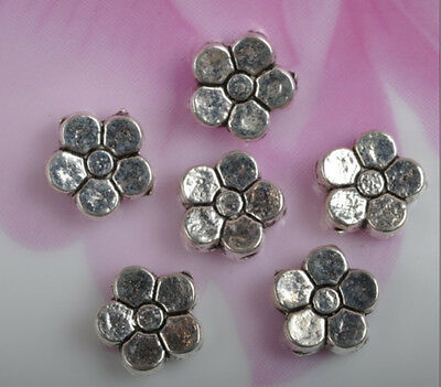 30pcs Tibetan Silver Flower Spacer Beads Jewelry Findings 7mm JK0288