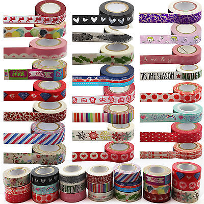 Masking Washi Paper 15mm x 10m Gift Craft Tape Rolls Decoration