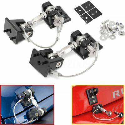 Hood Lock Catch Latch Bracket Latches Hold Down For Wrangler JK Unlimited 07-16