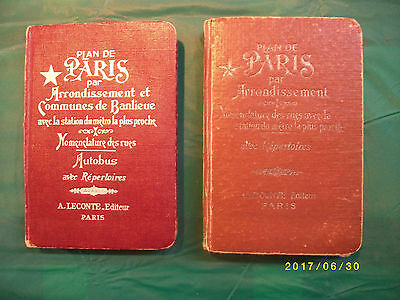lot de plan de paris ancien plus une carte de paris