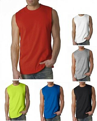 Gildan Ultra Cotton Adult Tank Top S-2XL Sleeveless Men's Muscle T-Shirt - 2700