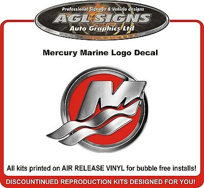 Mercury Marine Logo Decal  reproduction     saltwater efi offshore bluewater