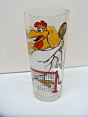 1976 Pepsi Foghorn & Herky Playing Tennis Interactive Promotional Glass