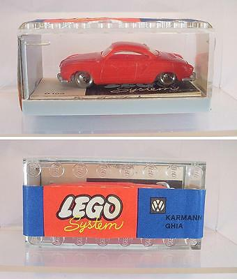 Lego 1/87 No.265 VW Karman Ghia rot in Garage mit Banderole ex Shop Stock