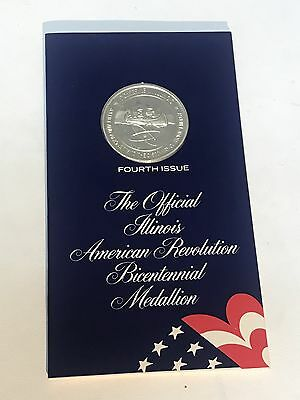 Illinois American Revolution Bicentennial Medallion Fourth Edition Capitol