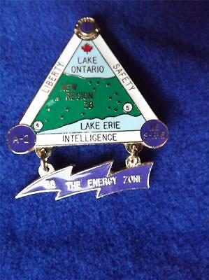 New Region 38 Energy Zone Lake Ontario Erie  Lions Club International Pin