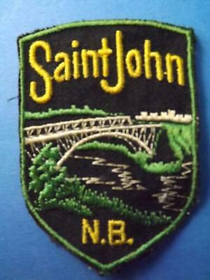 Saint John New Brunswick  Bridge Patch Vintage Souvenir Canada Collector