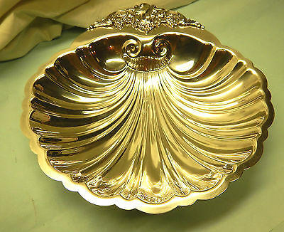 Large Baroque Shell Dish-Finest Wallace-Clean & Table Ready