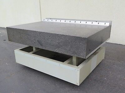 "Granite Surface Inspection Plate Table Heavy Duty 72"" x 53"" x 12"""
