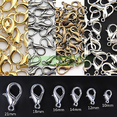 10/12/14/16/18/21mm Jewelry Loose Lobster Clasp For Necklace Bracelet Making DIY