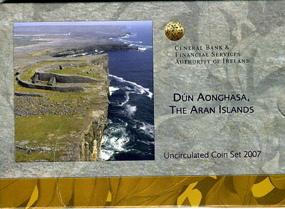 CHB - IRLAND Kursmünzensatz 2007 THE ARAN ISLANDS(3,88 €) im Folder-stempelglanz
